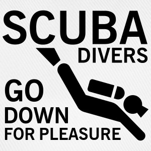 Scuba divers go down for pleasure T-shirts - Basebollkeps
