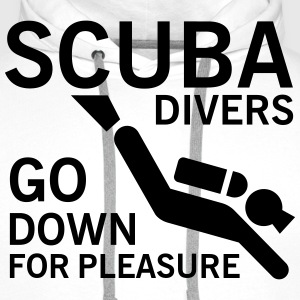 Scuba divers go down for pleasure Koszulki - Bluza męska Premium z kapturem