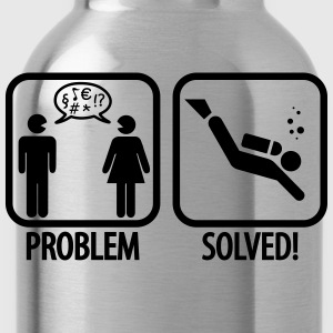 Diving: Problem - Solved! T-Shirts - Trinkflasche