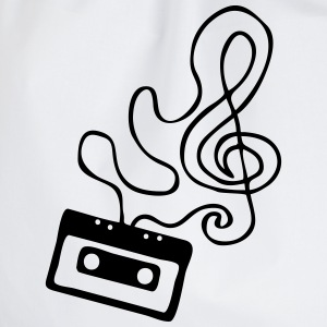 Clef cassette T-Shirts - Drawstring Bag
