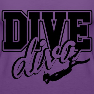 Diving Girl T-Shirts - Women's Premium Tank Top