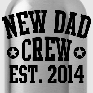 NEW DAD CREW Est. 2014 T-Shirt RW - Trinkflasche