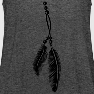Federn, Indianer, Kette, feathers, Native American T-Shirts - Women's Tank Top by Bella