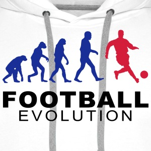 Football Evolution Tee shirts - Sweat-shirt à capuche Premium pour hommes