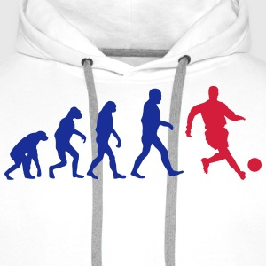 Football Evolution logo Tee shirts - Sweat-shirt à capuche Premium pour hommes