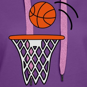 Basketball T-Shirts - Women's Premium Hoodie