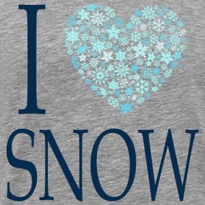 I love snow - Männer Premium T-Shirt