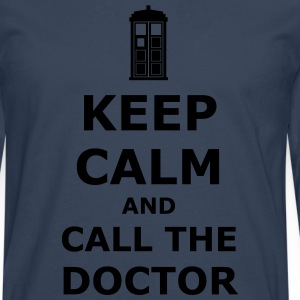 Keep calm and call the doctor T-shirts - Mannen Premium shirt met lange mouwen