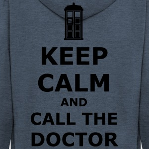 Keep calm and call the doctor T-Shirts - Men's Premium Hooded Jacket