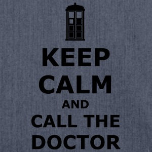 Keep calm and call the doctor T-Shirts - Shoulder Bag made from recycled material