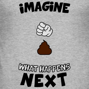 Imagine what happens next Pullover & Hoodies - Männer Slim Fit T-Shirt