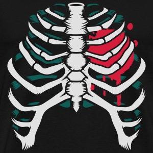A skeleton of a human thorax Long sleeve shirts - Men's Premium T-Shirt