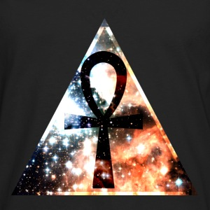 Hipster triangle with Ankh-mark T-shirts - Herre premium T-shirt med lange ærmer