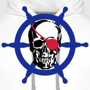 skull pirate T-Shirts - Men's Premium Hoodie