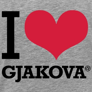 I LOVE GJAKOVA - Men's Premium T-Shirt