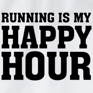 Running Is My Happy Hour T-Shirts - Drawstring Bag