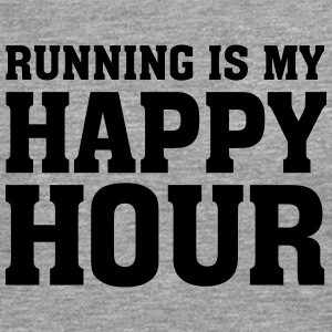 Running Is My Happy Hour T-Shirts - Männer Premium Langarmshirt