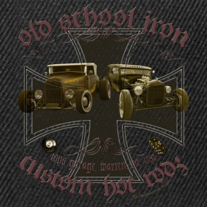 Oldschool iron, custom american Hot Rod, Rat Rod T-Shirts - Snapback Cap