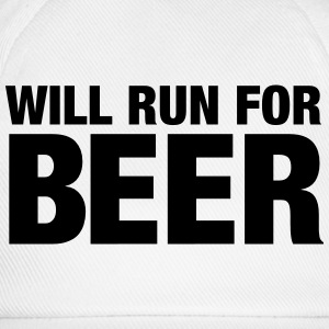 Will Run For Beer Magliette - Cappello con visiera