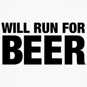 Will Run For Beer T-shirts - Herre premium T-shirt med lange ærmer