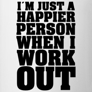 I´m Just A Happier Person When I Work Shirts met lange mouwen - Mok