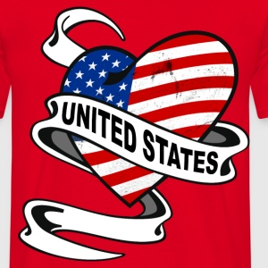 United States Heart Sweat-shirts - T-shirt Homme