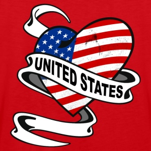 United States Heart Hoodies & Sweatshirts - Men's Premium Tank Top
