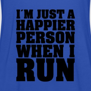 I´m Just A Happier Person When I Run T-Shirts - Women's Tank Top by Bella