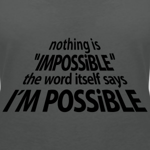 impossible I'm Possible 3D (1c) Polos - T-shirt col V Femme