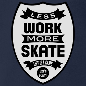 Less work more Skate T-Shirts - Baby Bio-Kurzarm-Body