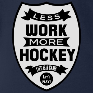 Less work more Hockey Skjorter - Økologisk kortermet baby-body