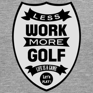 Less work more Golf Skjorter - Premium langermet T-skjorte for menn