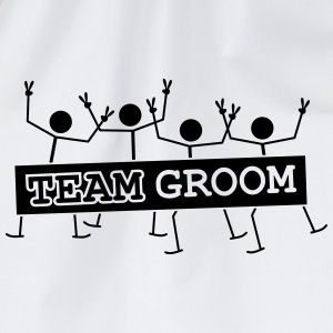 Team Groom Party Crew T-shirts - Gymnastikpåse