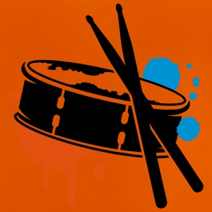 A drum and sticks as a graffiti Shirts - Baby T-Shirt