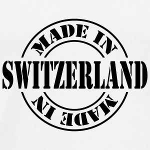 made_in_switzerland_m1 Flasker & krus - Herre premium T-shirt