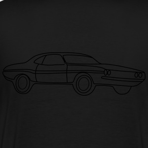 US Muscle Car V8 Tribal - Männer Premium T-Shirt