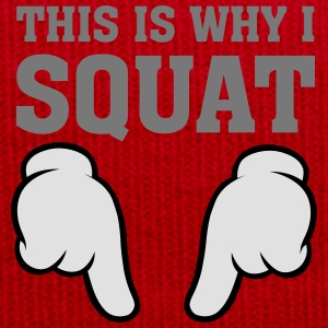 This Is Why I Squat (Comic Hands) T-Shirts - Winter Hat