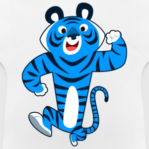 Big Blue Cartoon Tiger by Cheerful Madness!! Hoodies - Baby T-Shirt