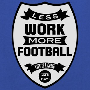 Less work more Football T-shirts - Premium hættetrøje til børn