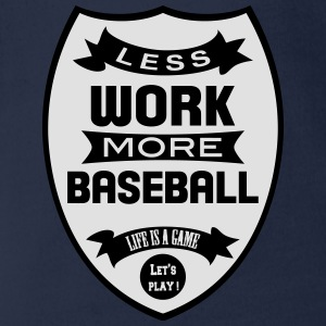Less work more Baseball T-shirts - Ekologisk kortärmad babybody