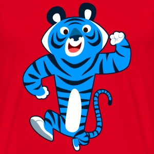 Big Blue Cartoon Tiger by Cheerful Madness!! Bags & backpacks - Men's T-Shirt
