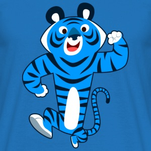 Gros Tigre Bleu Cartoon par Cheerful Madness!! Sacs et sacs à dos - T-shirt Homme