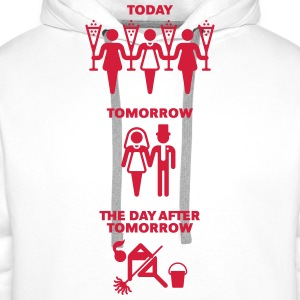 Today – Tomorrow – The Day After Tomorrow - Men's Premium Hoodie