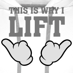 This Is Why I Lift (Comic Hands) T-shirts - Mannen Premium hoodie