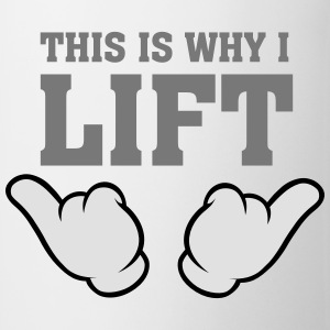 This Is Why I Lift (Comic Hands) T-Shirts - Tasse