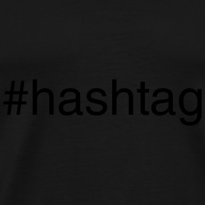 #hashtag Caps & Hats - Men's Premium T-Shirt