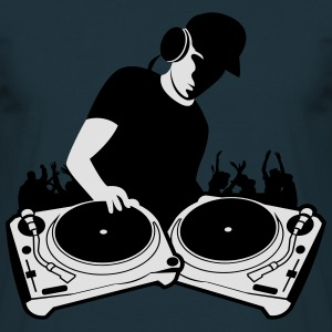 DJ with Turntables,DJ, concert, Mix, Record, Turnt Hoodies & Sweatshirts - Men's T-Shirt