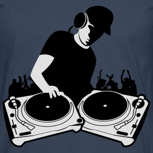 DJ with Turntables,DJ, concert, Mix, Record, Turnt Hoodies & Sweatshirts - Men's Premium Longsleeve Shirt