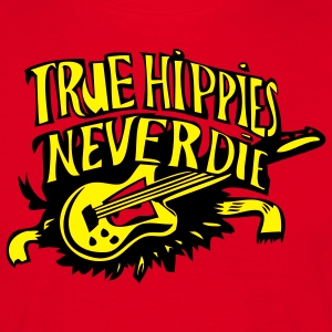 true hippies never die - Männer T-Shirt