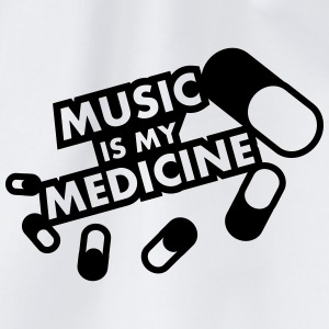 Music Is My Medicine Design T-shirts - Sportstaske